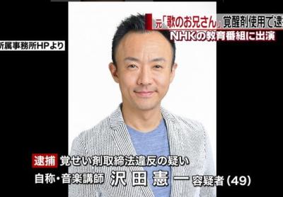 沢田憲一(歌のお兄さん)の経歴!嫁と子供は?逮捕されたサウナ