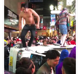 渋谷ハロウィン軽トラ横転させられた事件の真相!運転手が最初に煽った?